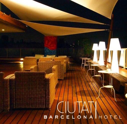 Terrasse hôtel ciutat barcelona barcelone